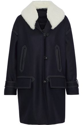 BELSTAFF Apsley shearling-trimmed wool-blend coat