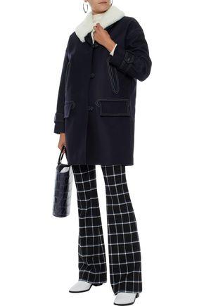 BELSTAFF Apsley shearling-trimmed wool-blend coat