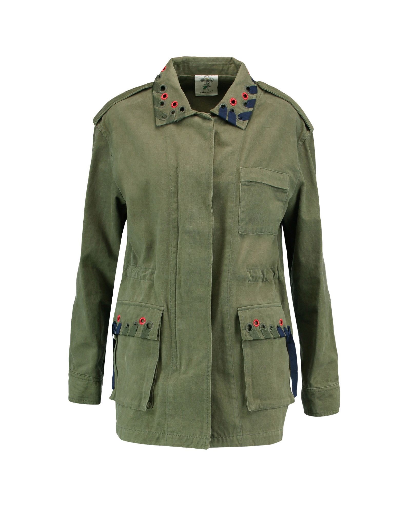 STEVE J & YONI P Full-Length Jacket in Military Green