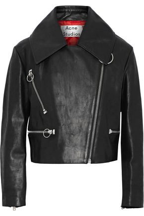 ACNE STUDIOS Meyer brushed-leather biker jacket