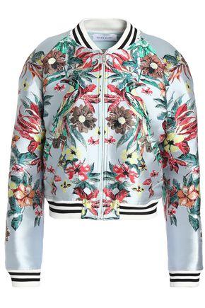 ZUHAIR MURAD Silk-blend jacquard bomber jacket