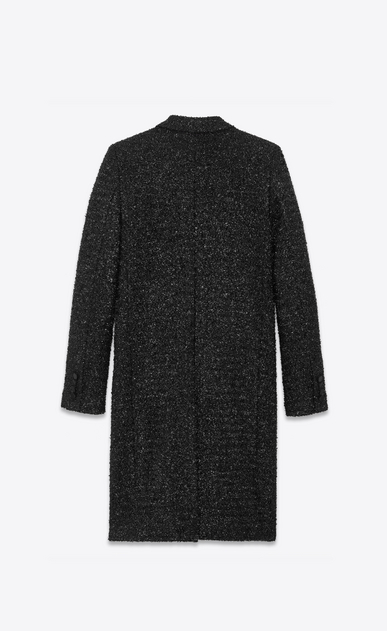 SAINT LAURENT Coats Woman lurex chesterfield coat b_V4