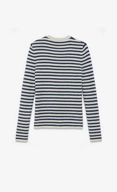 SAINT LAURENT Knitwear Tops Woman navy jumper in mohair b_V4