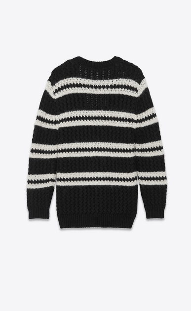 SAINT LAURENT Knitwear Tops Woman openwork alpaca cardigan b_V4