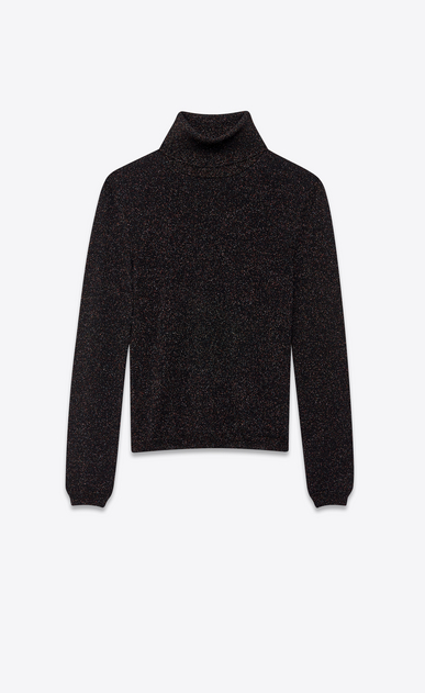 SAINT LAURENT Knitwear Tops Woman lurex wool turtleneck a_V4