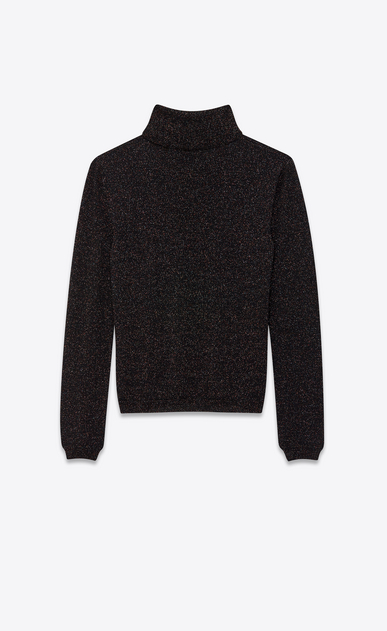 SAINT LAURENT Knitwear Tops Woman lurex wool turtleneck b_V4