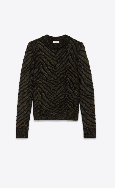 SAINT LAURENT Knitwear Tops Woman Zebra lurex jumper a_V4