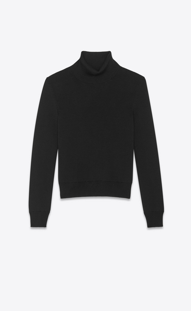 SAINT LAURENT Knitwear Tops Woman saint laurent wool turtleneck a_V4