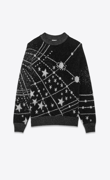 SAINT LAURENT Knitwear Tops Woman constellation jacquard jumper a_V4