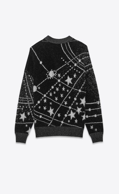 SAINT LAURENT Knitwear Tops Woman constellation jacquard jumper b_V4