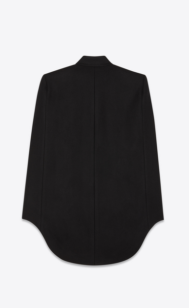 SAINT LAURENT Coats Woman officier cape in army felted wool b_V4