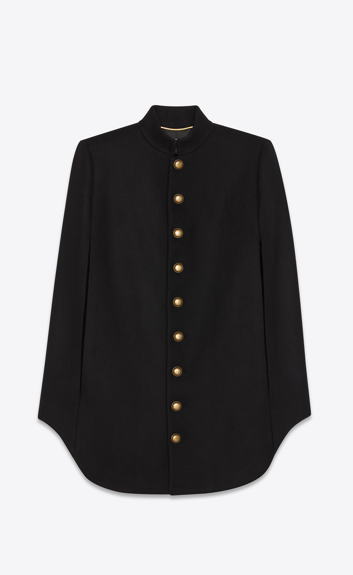 OFFICIER CAPE IN ARMY FELTED WOOL