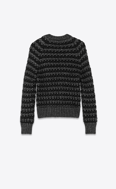 SAINT LAURENT Knitwear Tops Woman lurex wool graphic jumper b_V4