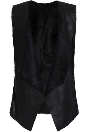 KARL DONOGHUE Reversible paneled shearling  vest