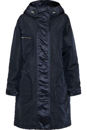 BELSTAFF Claredon satin-trimmed shell hooded coat