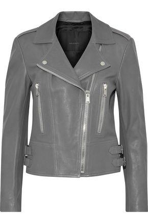 BELSTAFF Marving buckle-embellished textured-leather biker jacket