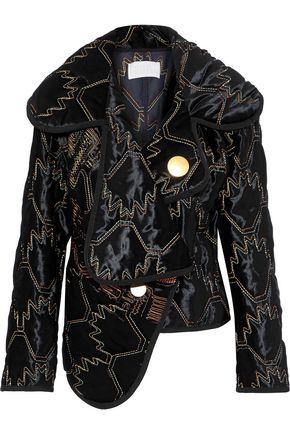 PETER PILOTTO Asymmetric embroidered velvet jacket