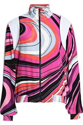 EMILIO PUCCI Printed chenille bomber jacket