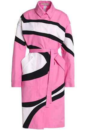 EMILIO PUCCI Printed cotton trench coat