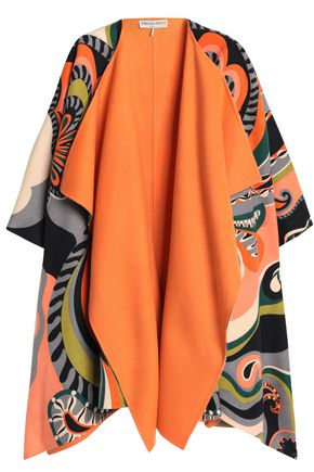 EMILIO PUCCI Printed wool and cashmere-blend felt cape