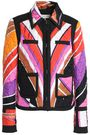 EMILIO PUCCI Printed quilted silk-blend twill jacket
