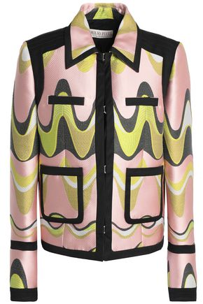EMILIO PUCCI Twill and jacquard jacket