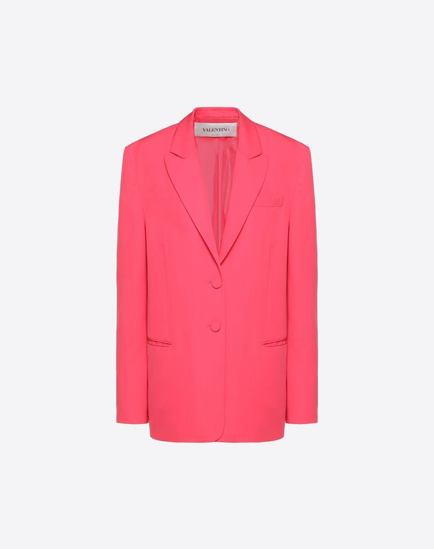 Blazer in Cady Silk Wool