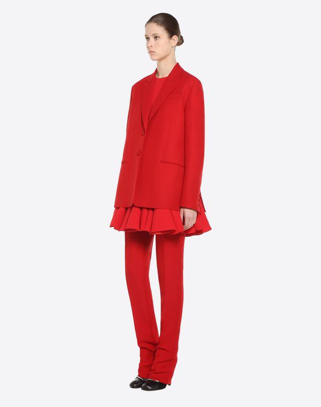 Blazer in Cady Silk Wool