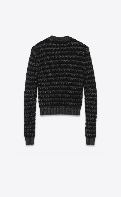 SAINT LAURENT Knitwear Tops Man graphic striped jumper in lurex wool b_V4