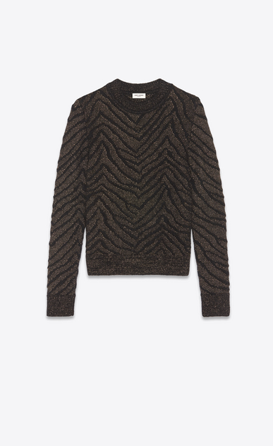 SAINT LAURENT Knitwear Tops Man zebra lurex sweater a_V4