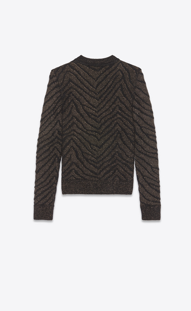 SAINT LAURENT Knitwear Tops Man zebra lurex sweater b_V4