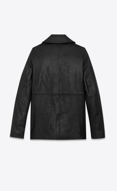 SAINT LAURENT Coats Man leather pea jacket b_V4