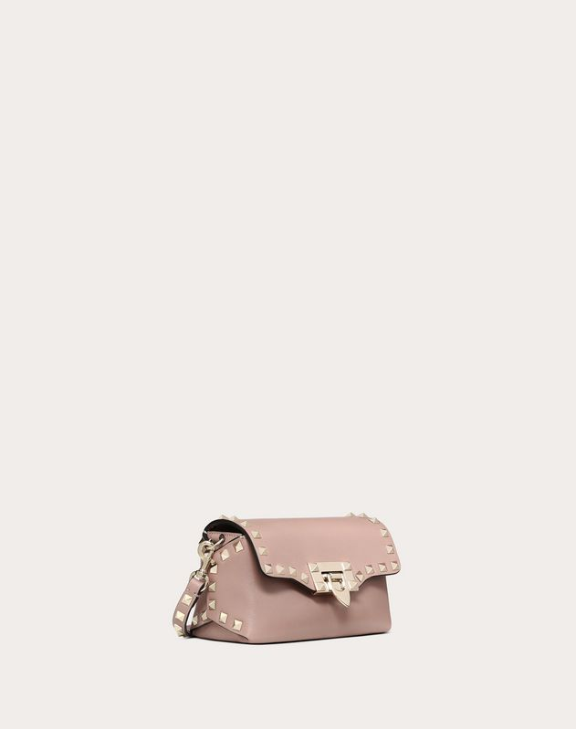Mini Rockstud Calfskin Crossbody Bag