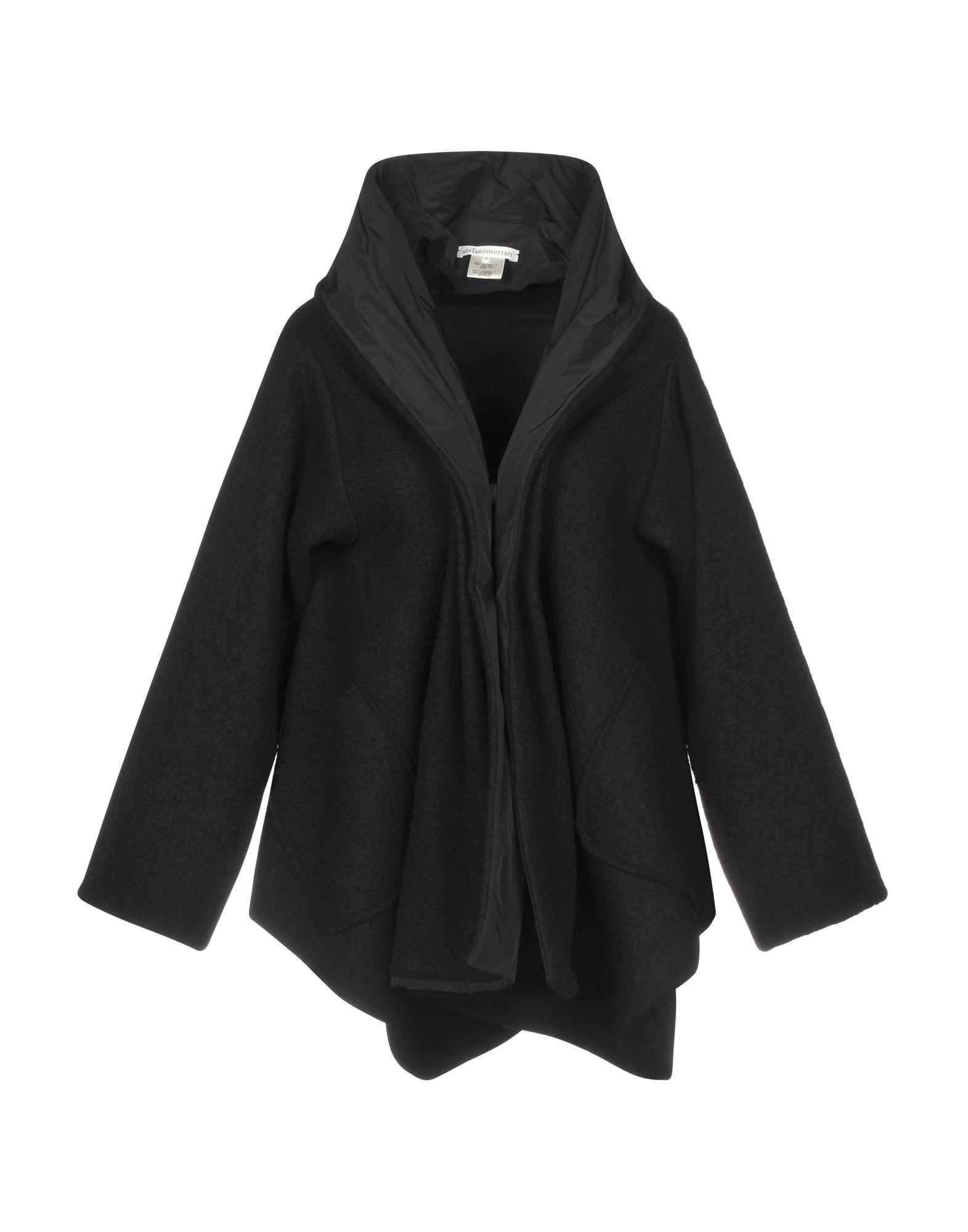 《期間限定セール開催中!》STEFANO MORTARI レディース コート ブラック 42 ウール 100% / ポリエステル