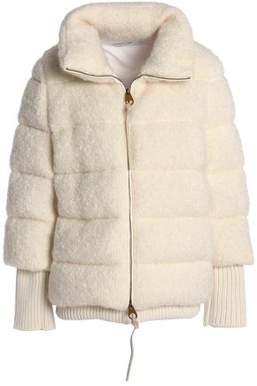AGNONA Quilted mohair-blend jacket