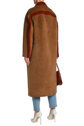 AGNONA Two-tone alpaca and wool-blend coat