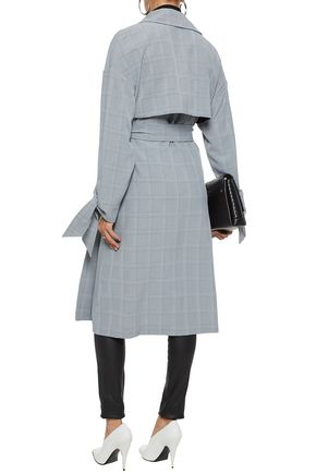 W118 by WALTER BAKER Wallace Prince of Wales checked woven trench coat