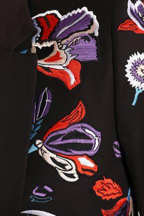 EMILIO PUCCI Embroidered stretch-cotton twill blazer