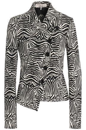 EMILIO PUCCI Zebra-print cotton-blend blazer