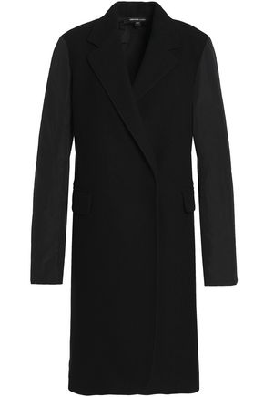 JAMES PERSE Shell-paneled wool-blend coat