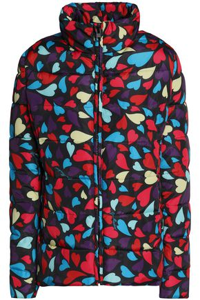 LOVE MOSCHINO Printed quilted shell down jacket