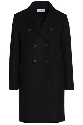 SANDRO Double-breasted wool-blend felt jacket