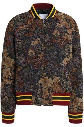 SANDRO Jacquard bomber jacket