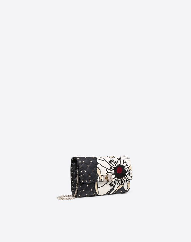 Flower motif Spike Chain Clutch