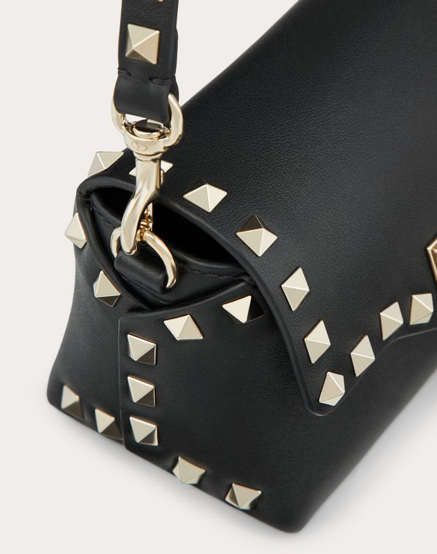Mini Crossbody Bag Rockstud aus Kalbsleder