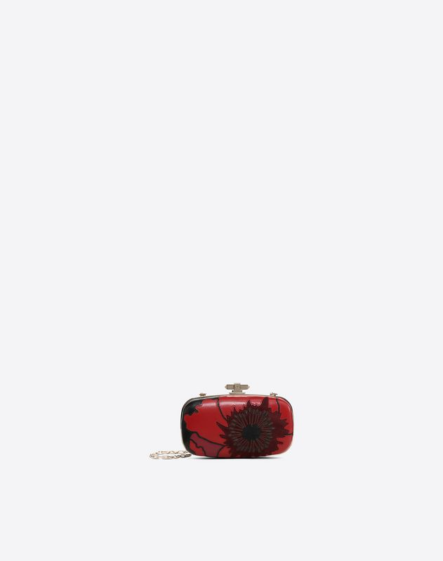 Poppy Flower Minaudière Clutch