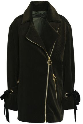 MOTHER OF PEARL Asymmetric cotton-corduroy coat