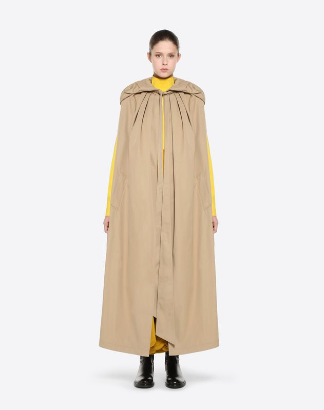 Cappa in Gabardine Trench