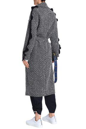 MOTHER OF PEARL Ruffle-trimmed wool-blend tweed coat