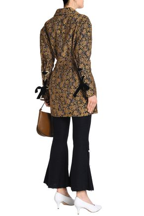 MOTHER OF PEARL Jacquard-knit cotton-blend skinny pants